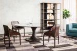 tr vittorio table, brizia lounge chairs ,bridge boolshelf